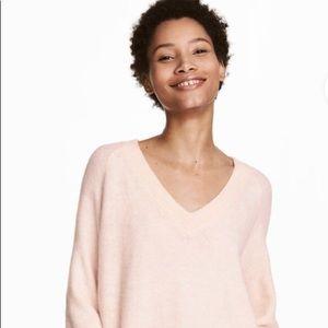 H&M Basics V-neck Sweater-blush